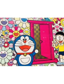 TAKASHI MURAKAMI x DORAEMON | DOKODEMO DOOR IN A FIELD OF FLOWERS
