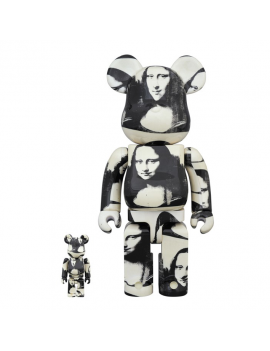BE@RBRICK 400% & 100%  ANDY WARHOL DOUBLE MONA LISA