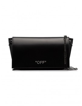Black Paperclip Chain leather shoulder bag